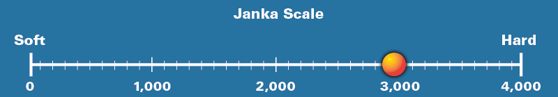 African Mesquite Janka Scale Rating 2,940