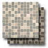Marble Weave Offset Marble and Glass Mosaic