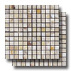 Mosaics Travertine 1 x 1 Polished