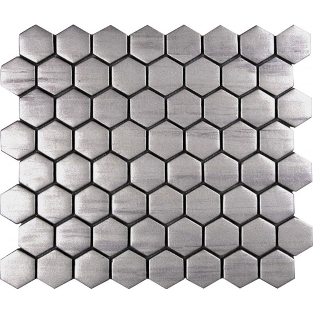 Bati Orient Glass Hexagon Silver