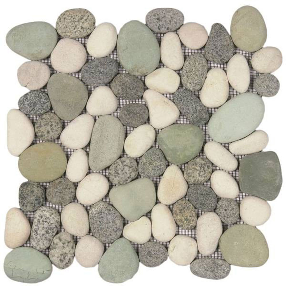 Bati Orient Pebbles Rectified Matte Mix Speckled Green White