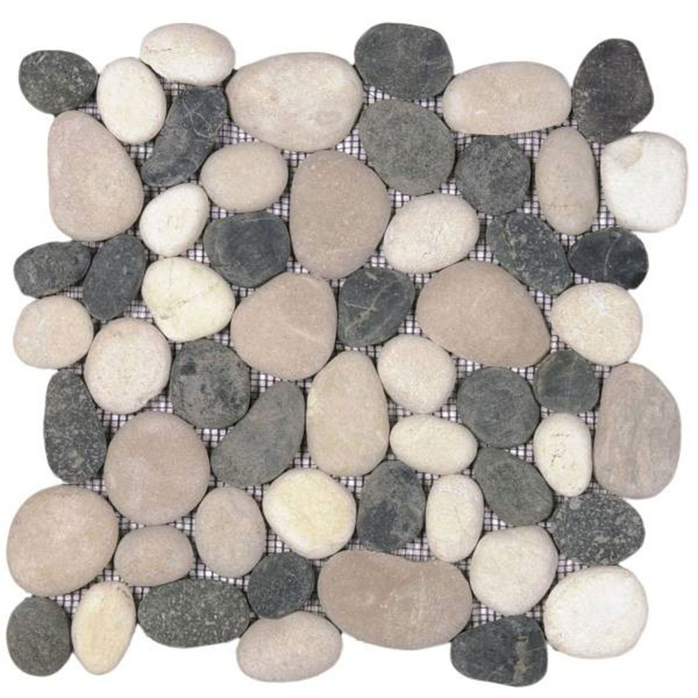 Bati Orient Pebbles Rectified Matte Mix White Black Beige