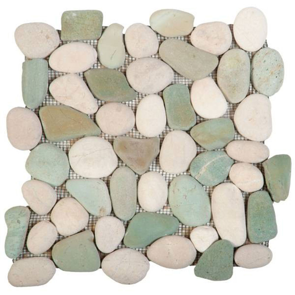 Bati Orient Pebbles Rectified Matte Mix White Green