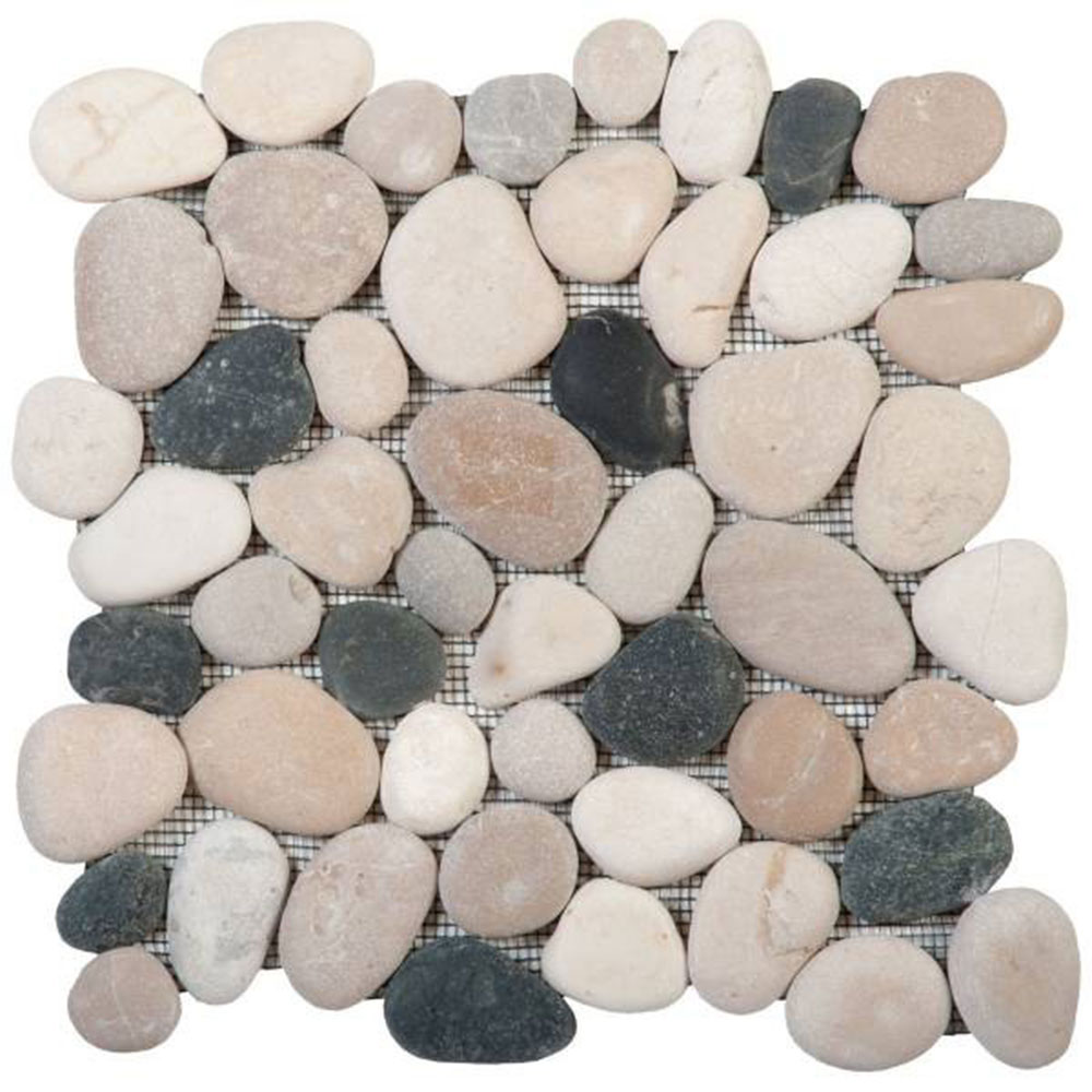 Bati Orient Pebbles Rectified Matte Mix White Grey Beige Black
