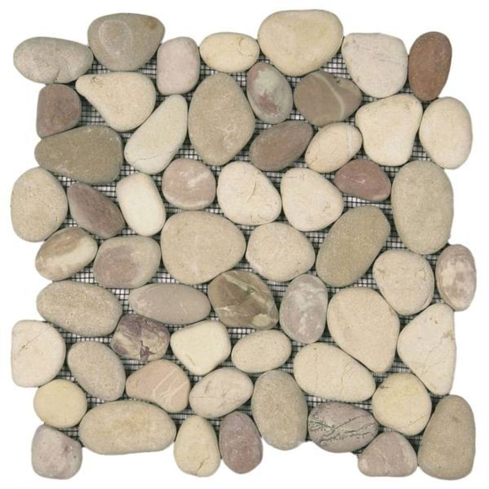 Bati Orient Pebbles Rectified Matte Mix White Pink Beige