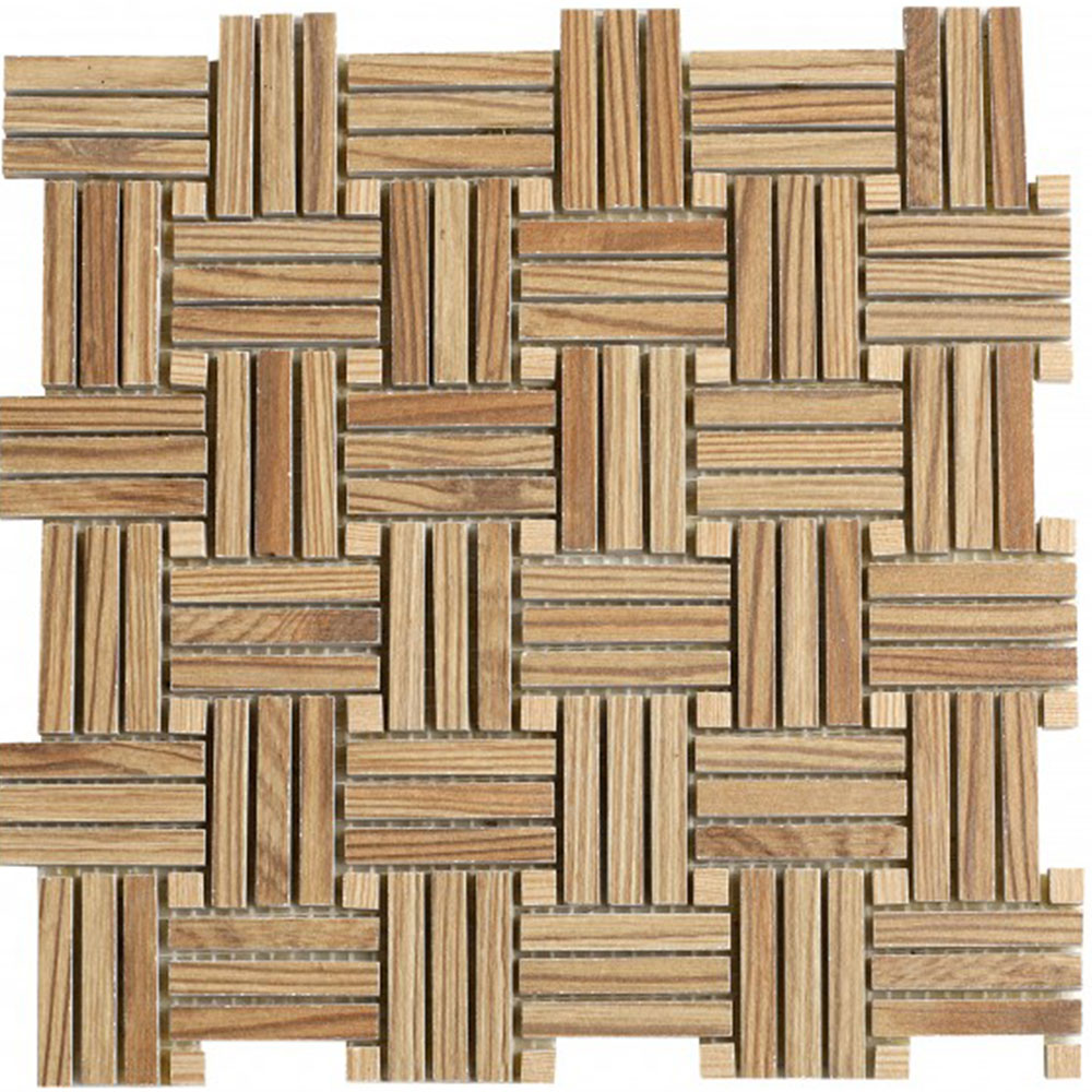 Bati Orient Wood Look Basketweave Basketweave Beige Mix