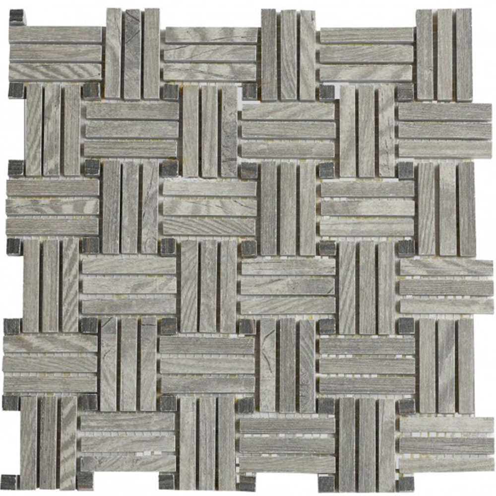 Bati Orient Wood Look Basketweave Grey Mix