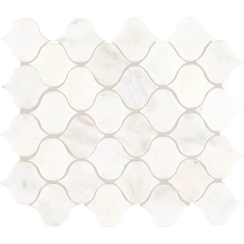 First Snow Marble : Daltile marble mosaics unique shapes tile stone colors