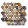 Slate Collection - Unique Shapes Beehive Mosaic