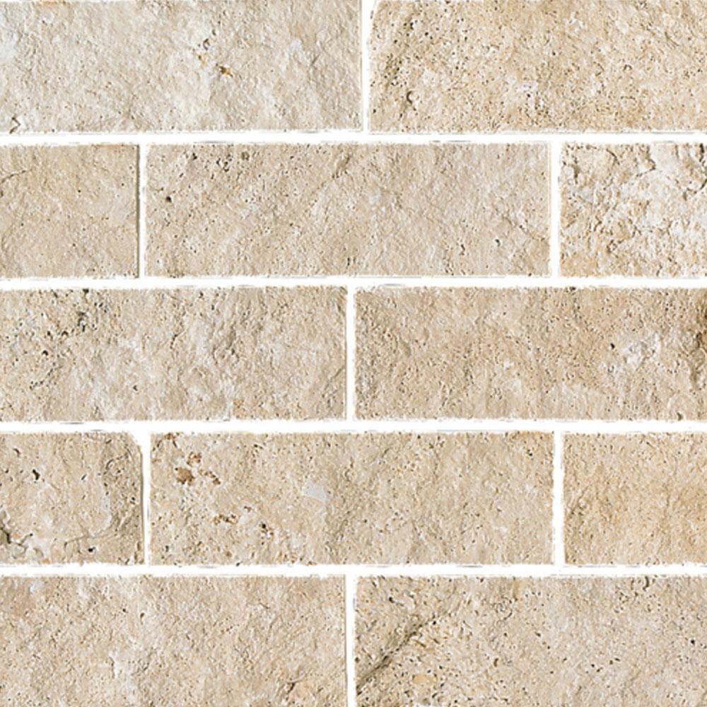 daltile travertine natural stone split face 4 x 12 ivory