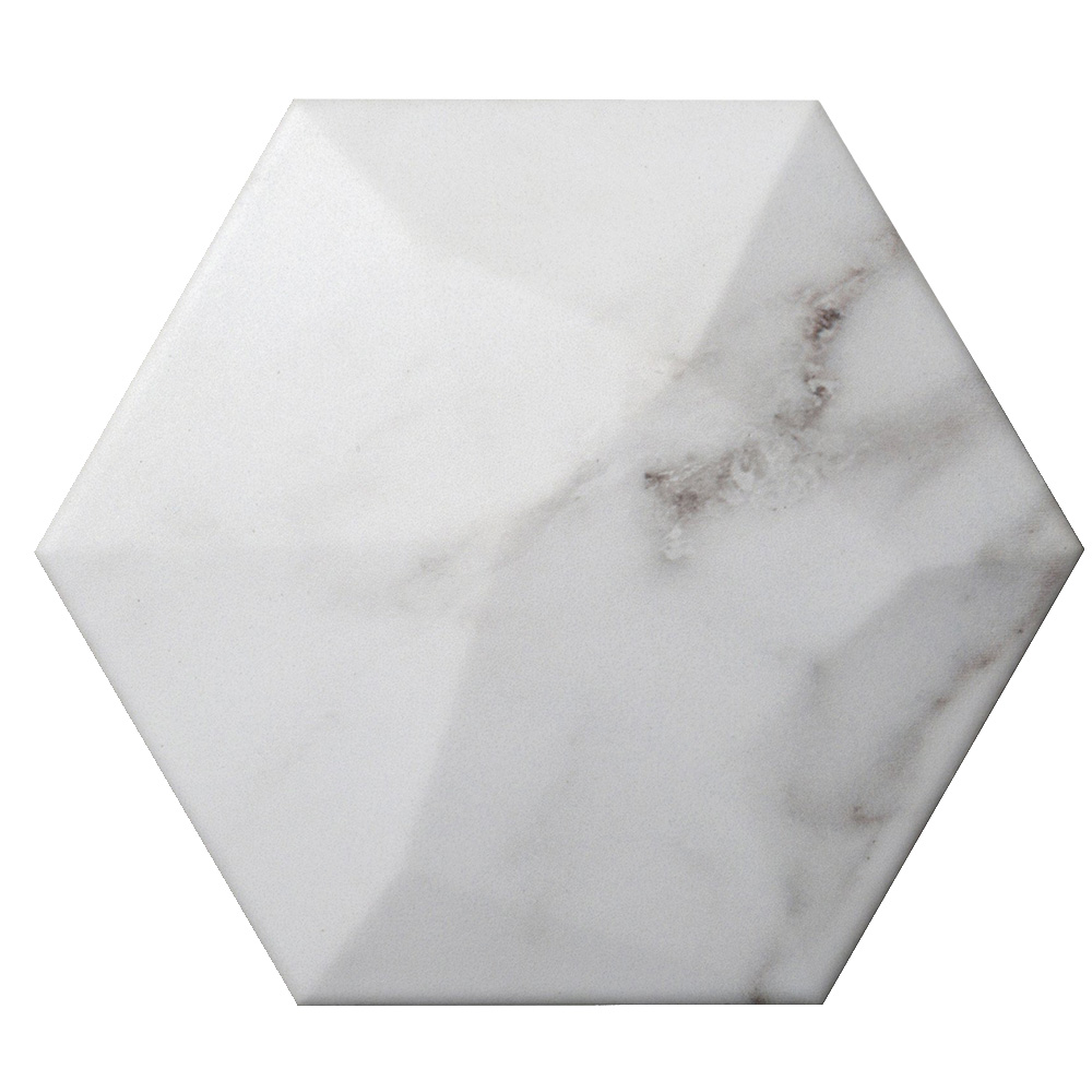 Emser Tile Code Hexagon High Calacata Hex High