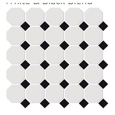 Emser Tile Shape Octagon White Black