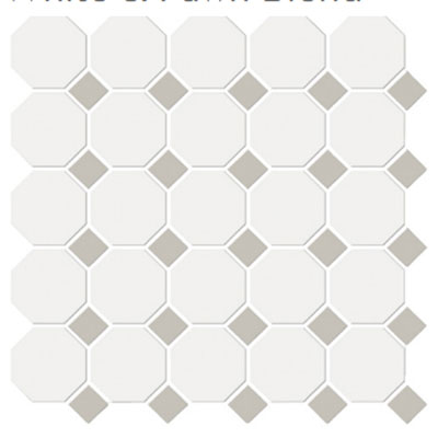 Emser Tile Shape Octagon White Fawn