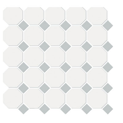 Emser Tile Shape Octagon White Gray