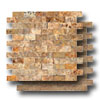 Turkish Travertine Mosaic Split Face 1 x 2