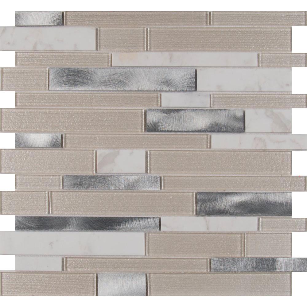 Ms international decorative blends mosaic interlocking 12 for International decor tiles