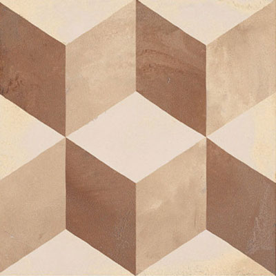 Marca Corona Terra 8 x 8 Decorative Tile Square Cubo C 0369