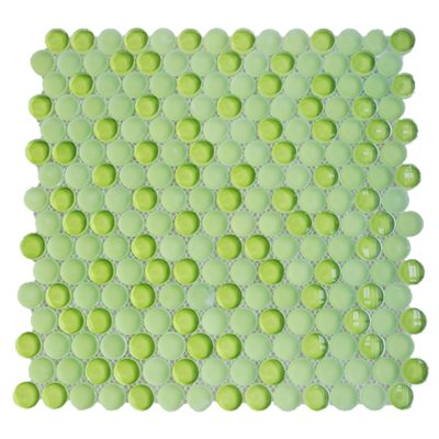 Crystal Mosaic Circles Apple Lime