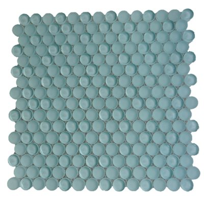 Crystal Mosaic Circles Ice Mint