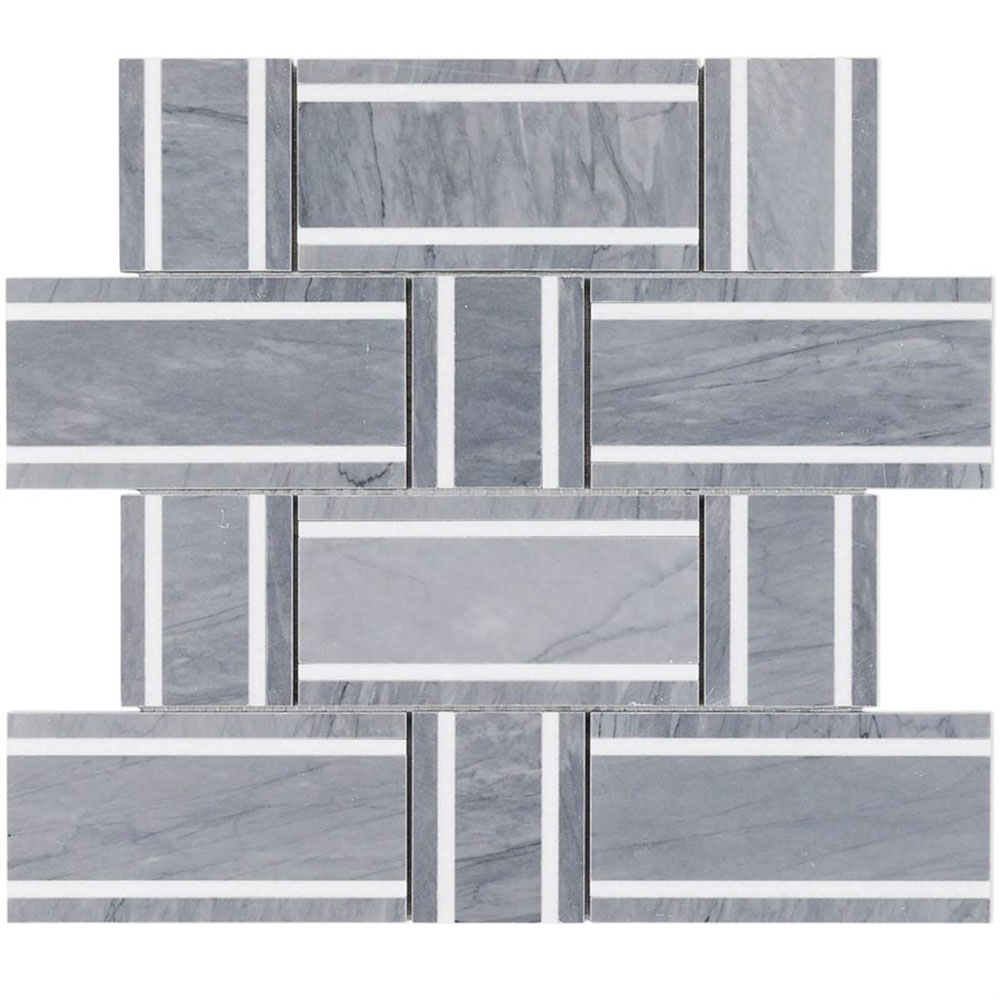 Interlace Burlington Gray White Thassos