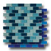 Aqua Color Blends 1 x 2 Crystal Mosaics