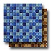 Aqua Color Blends 1 x 1 Crystal Mosaics