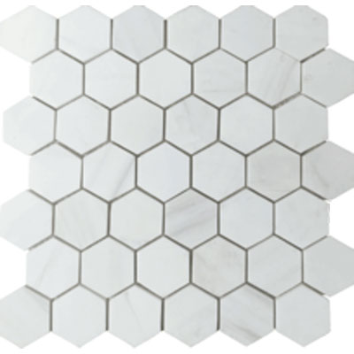 tesoro hexagon mosaic white dolomite
