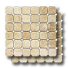 Pietra Antica Select Polished Travertine Octagon Dot Mosaics