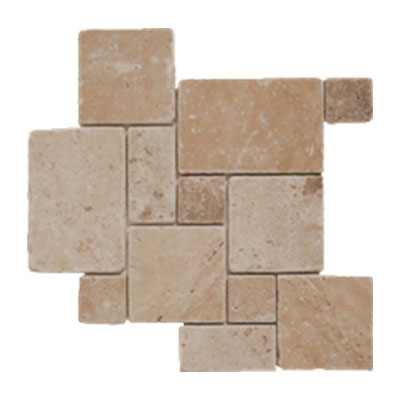 tesoro pietra antica select travertine mini versailles mosaic noce