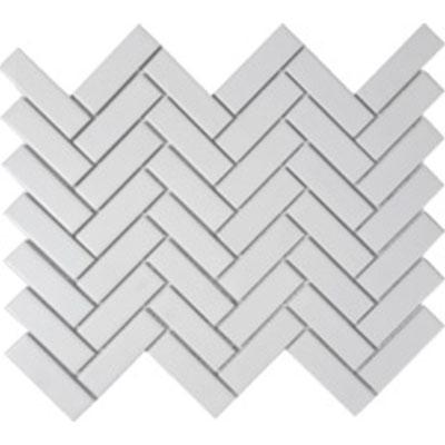 porcelain herringbone mosaic solid white matte