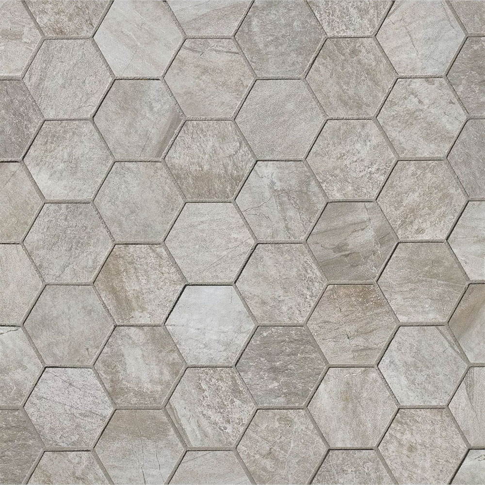 Stone Mountain Hexagon Mosaic Silver