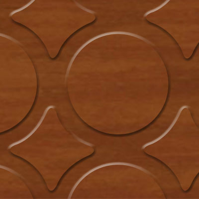 Evolving Styles Wood Elements Radial III Vintage Pecan