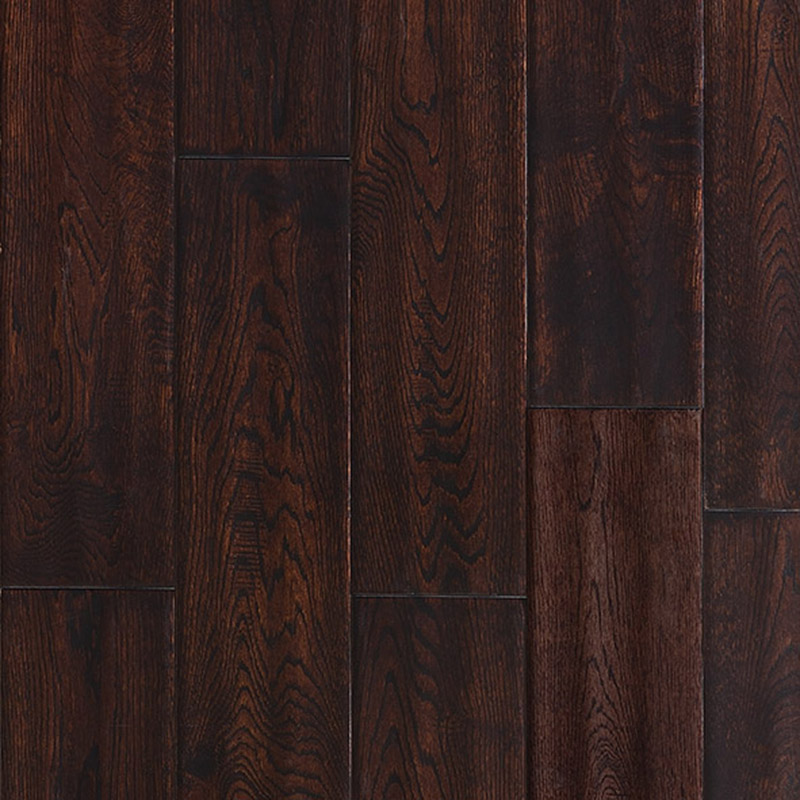 Ark Floors Artistic Distressed Solid 4 3/4 Oak Tobacco