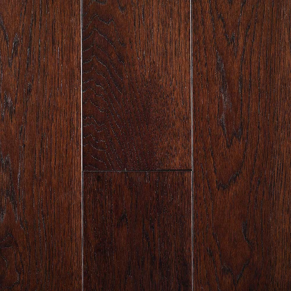 Mullican Nature Plank Solid 5 Inch Hickory Espresso